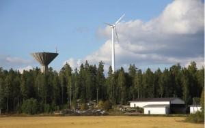 Oiitisten tilan tuulivoimala. Kuva:Jussi Oittinen